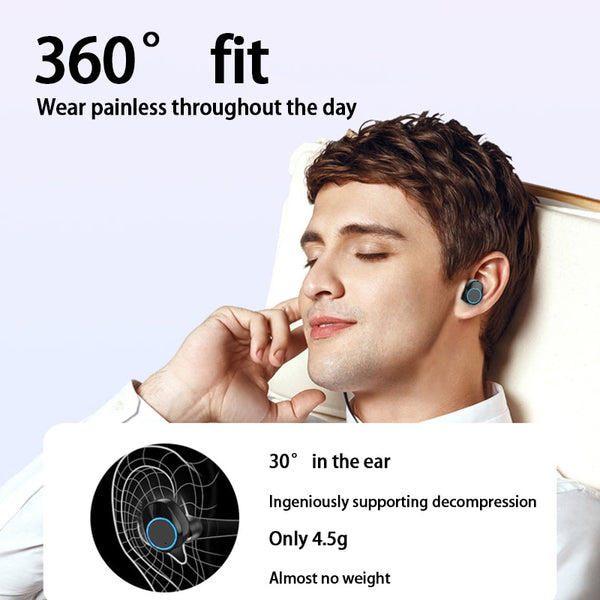New TWS Bluetooth 5.0 Earphone Wireless Super Bass Stereo Headset Earbuds With Microphone