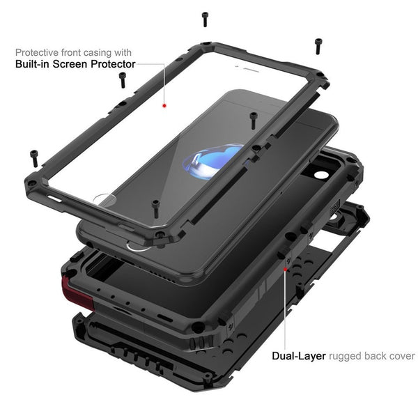 New Heavy Duty Aluminum Sealed Water-Resistant Case for iPhone 11 Pro XS Max XR X 8 2020 SE