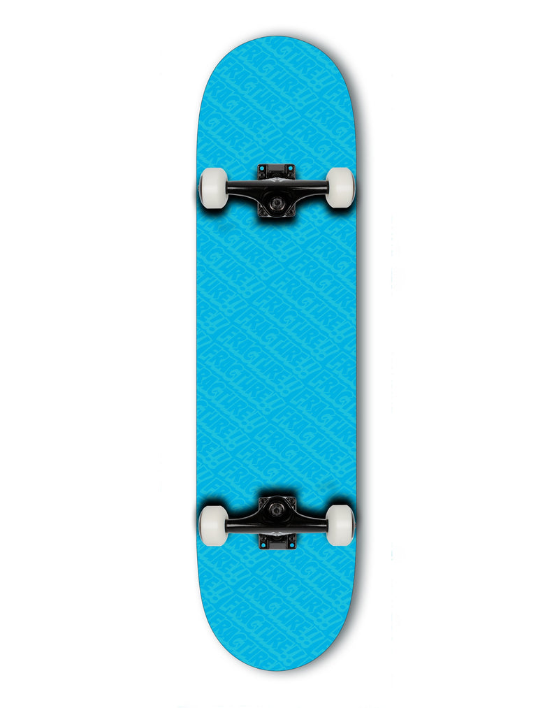 Fracture Skateboards All Over Comic Complete Skateboard, Blue - 7.75 complete skateboards Fracture