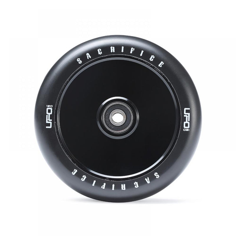 Sacrifice Scooters UFO 120mm Stunt Scooter Wheel, Black/Black Stunt Scooter Sacrifice