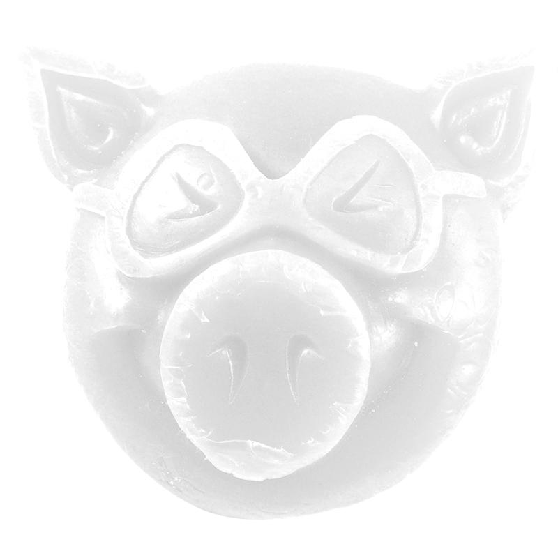 Pig Wheels Pig Head Wax, White Wax Pig Wheels