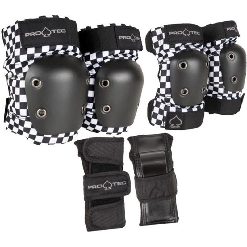Pro-Tec Street Youth Junior Pad Set, Black/White Protection Pro Tec M Youth
