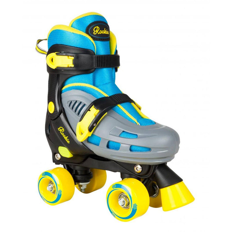 Rookie Adjustable Kids Roller Skate Duo - Blue/Yellow Kids Skates Rookie JNR 8-11