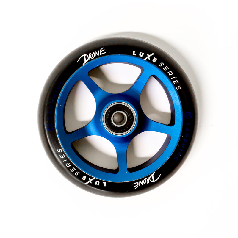 Drone Scooters Luxe Stunt Scooter Wheel 120mm, Blue Stunt Scooter Drone