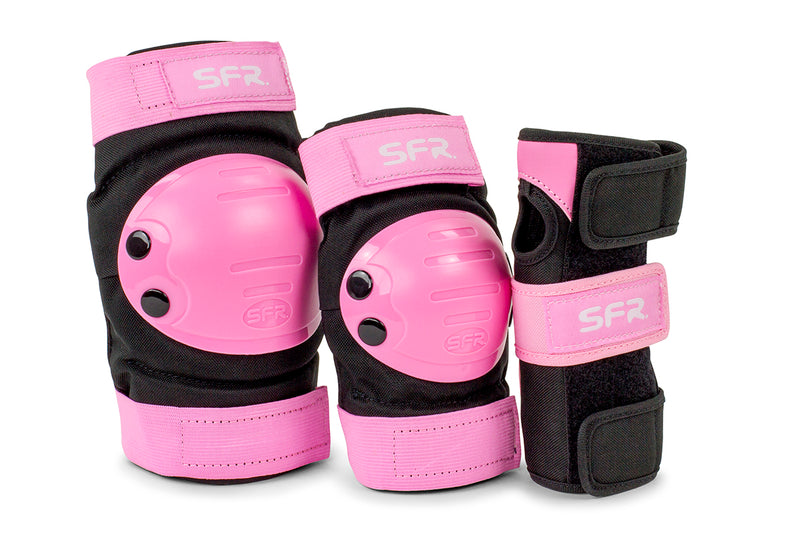 SFR Skates Youth Ramp Triple Pad Set, Pink/Black