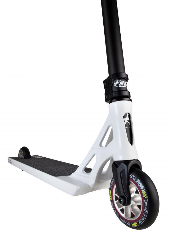 Addict Scooters Revenger Complete Stunt Scooter, White/Black Complete Scooters Addict