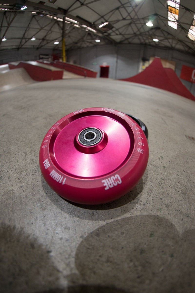 CORE Hollow Stunt Scooter Wheel 110mm - Red Scooter Wheels CORE