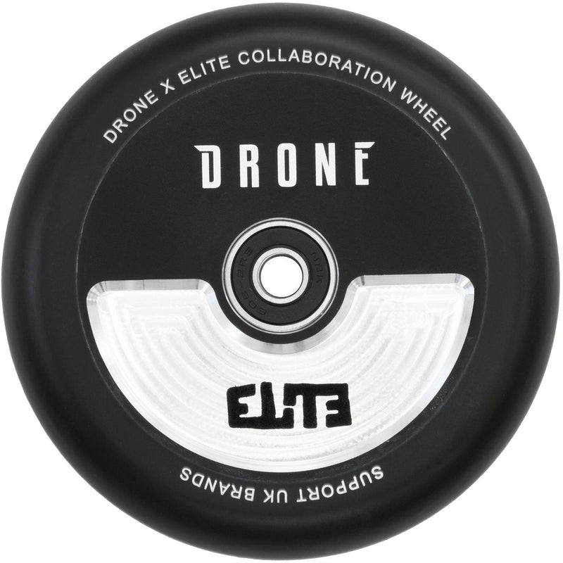 Drone x Elite Scooters Collab Stunt Scooter Wheel 110mm, Black Scooter Wheels Drone