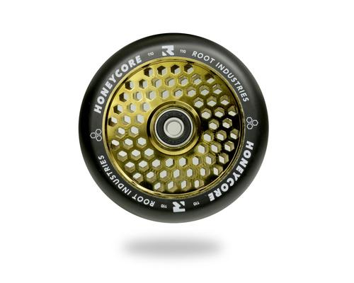 Root Industries Scooters Honeycore Stunt Scooter Wheels 110mm, Black/Gold Scooter Wheels Root Industries