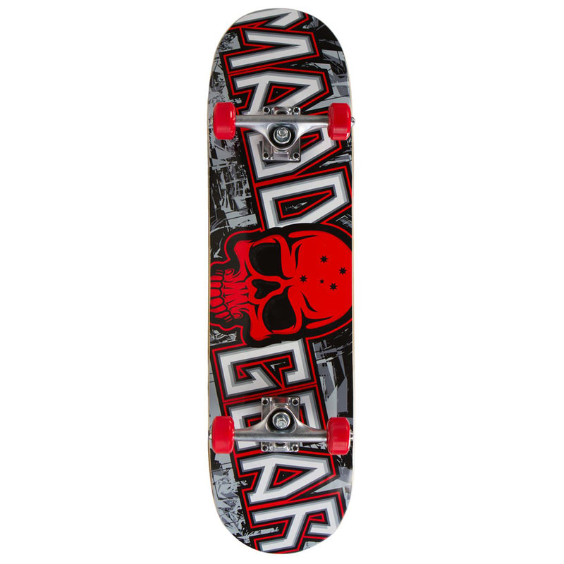 Madd Gear MGP Pro Series Complete Skateboard, Grittee Red