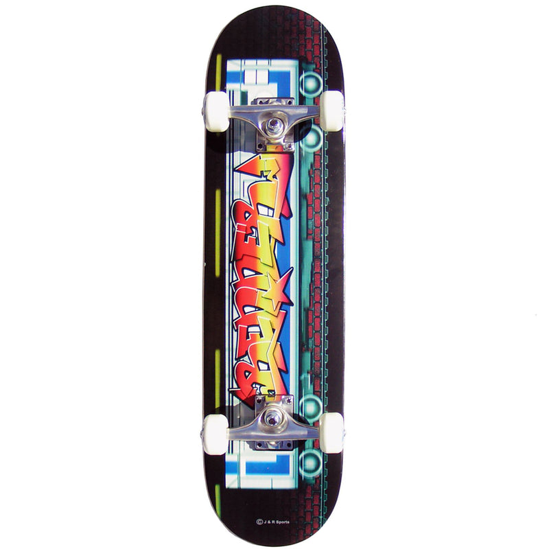 Renner Skateboards B Series Complete Skateboard, Graffiti On The Tube