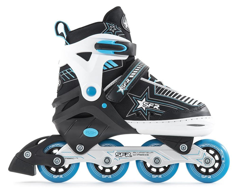 SFR Kids Inline Skates Pulsar Adjustable - Blue Kids Skates SFR