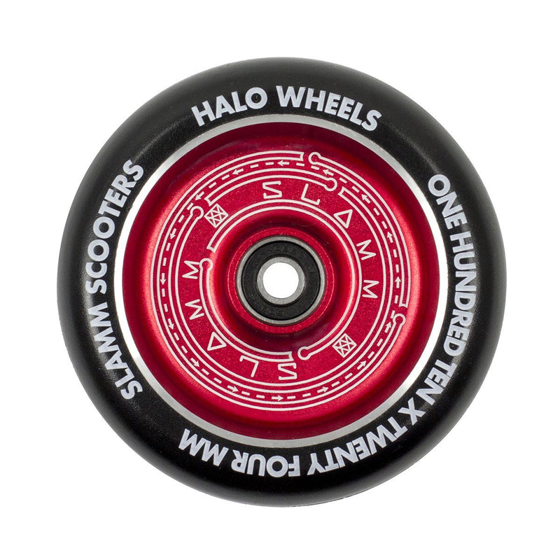 Slamm 110mm Halo Deep Dish Wheel - Red Scooter Wheels Slamm Scooters