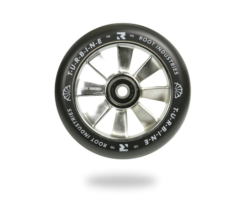 Root Industries Scooters Turbine Stunt Scooter Wheels 110mm, Black/Chrome Scooter Wheels Root Industries