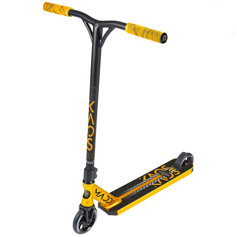 Madd Gear Kick KAOS V3 Complete Stunt Scooter, Black/Gold