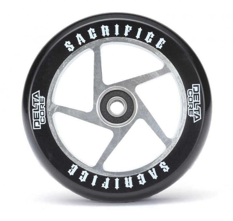 Sacrifice Scooter Wheel Delta Core 110mm, Black/Polished Stunt Scooter Sacrifice
