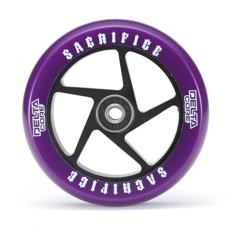 Sacrifice Scooter Wheel Delta Core 110mm, Purple/Black Stunt Scooter Sacrifice
