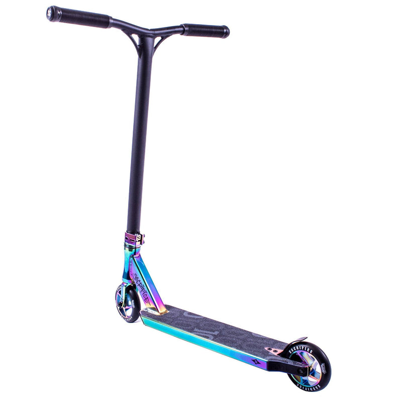Sacrifice Scooters Flyte 100 Complete Stunt Scooter, NeoChrome Stunt Scooter Sacrifice