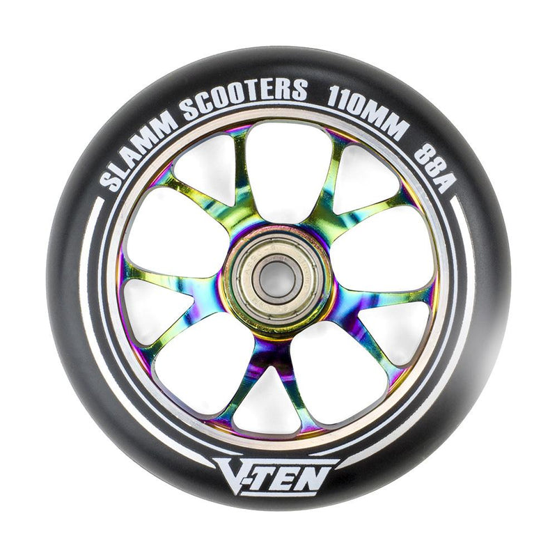 Slamm V-Ten Neochrome Scooter Wheel, 110mm Stunt Scooter vendor-unknown