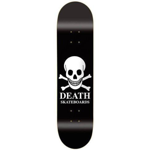 "Death Skateboards OG Logo Skateboard Deck 8.0"", Black"