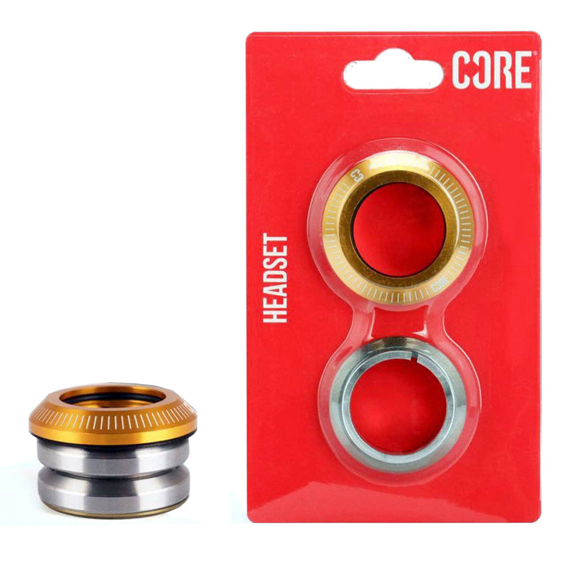 CORE Dash Integrated Headset, Gold Stunt Scooter CORE