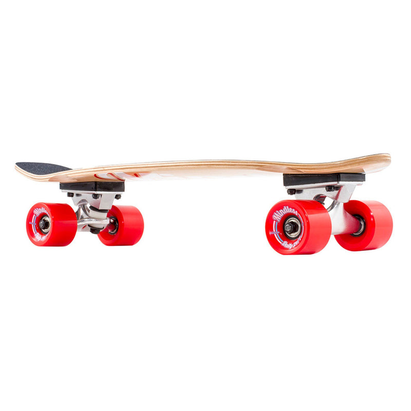 Mindless Longboard Stained Daily Cruiser - Red/Natural Skateboard Mindless