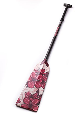 Hornet Watersports Dragon Boat Paddle Adjustable Carbon Fiber Hibiscus Lightweight IDBF Approved