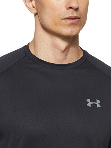 Under Armour Men's Tech 2.0 Short Sleeve T-Shirt , Black (001)/Graphite , Large