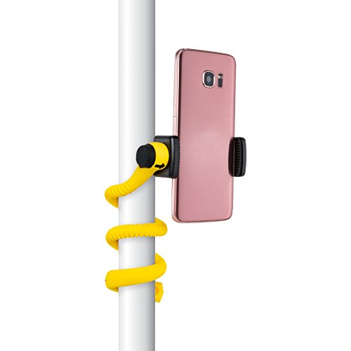 Gekkostick Flexible Smartphone Selfie Stick - Portable Selfie Stick That can be Set, Wrapped, Hung and Clung Practically Anywhere - Universal fit for Smartphones (Yellow) 32047