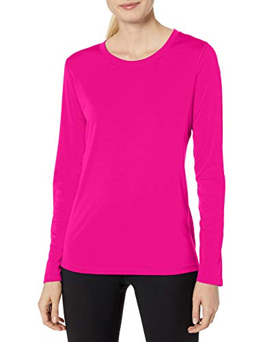 Hanes Women's Sport Cool Dri Performance Long Sleeve Tee, Fresh Berry, Large