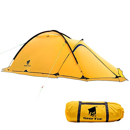 Geertop Portable Ultralight 2 Person 4 Season Camp Tent Waterproof Backpacking Tent Double Layer All Weather for Camping Hiking Travel Climbing Mountaineering - Easy Set Up