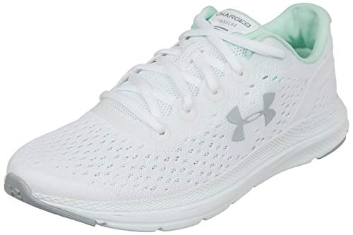 Under Armour Women's Charged Impulse Running Shoe,White (103)/Mod Gray, 8