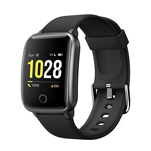Curved Screen Smart Watch for Android iOS Phones, Waterproof Fitness Tracker Health Exercise Smartwatch Pedometer Heart Rate Sleep Monitor Compatible with Apple iPhone Android Samsung for Men Women