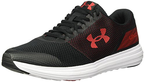 Under Armour Men's Surge Running Shoe, Black (001)/White, 10.5 X-Wide