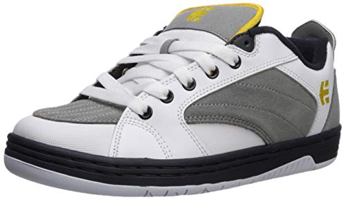 Etnies Men's CZAR Skate Shoe, White/Grey/Navy, 14 Medium US