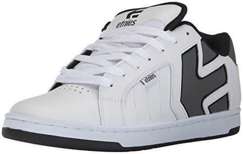 Etnies Men's Fader 2 Skate Shoe, White/Grey/Black, 8 Medium US