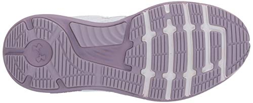 Under Armour Women's Charged Bandit 5 Running Shoe, Halo Gray (103)/Purple Haze, 9.5
