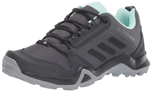 adidas outdoor Terrex AX3 Hiking Shoe - Women's Grey Five/Black/Clear Mint, 8.0