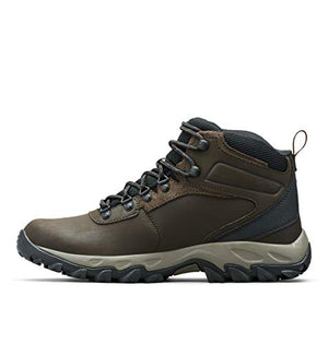 Columbia Men's Newton Ridge Plus II Waterproof Hiking Boot, Cordovan/Squash, 12 D US