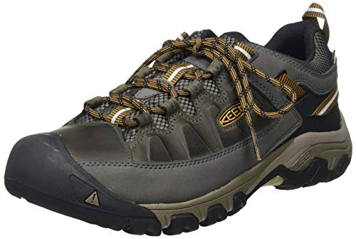 KEEN mens Targhee Iii Wp Hiking Shoe, Black Olive/Golden Brown, 9 US