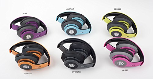 iJoy Matte Finish Premium Rechargeable Wireless Headphones Bluetooth Over Ear Headphones Foldable Headset with Mic (Stealth)