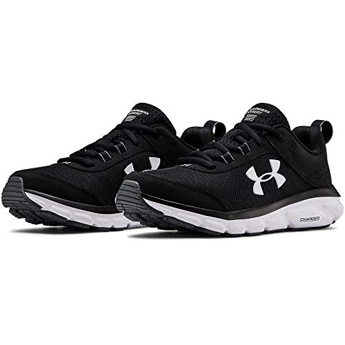 Under Armour Women's Charged Assert 8 Running Shoe , Black (001)/White, 10