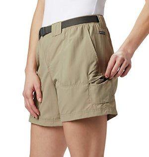 Columbia Women's Sandy River Breathable Cargo Short with UPF 30 Sun Protection, Tusk, Medium