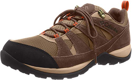 Columbia Men's Redmond V2 Waterproof Hiking Shoe, Pebble/Desert Sun, 11