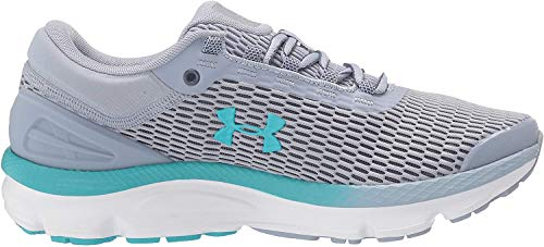 Under Armour Women's Charged Intake 3 Running Shoe, Blue Heights (400)/Downpour Gray, 10