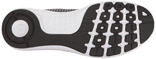 Under Armour Men's Micro G Fuel Running Shoe, Black (001)/White, 8.5