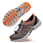 ALEADER Water Hiking Shoes for Men, Outdoor, Camp, Kayaking, Wet/River Walking Sneakers Gray/Orange 11 D(M) US