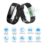 LETSCOM Fitness Tracker HR, Activity Tracker Watch with Heart Rate Monitor, Waterproof Smart Fitness Band with Step Counter, Calorie Counter, Pedometer Watch for Women and Men