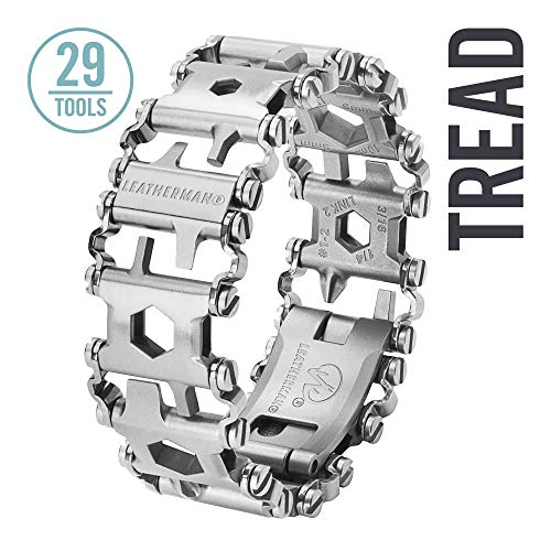 LEATHERMAN, Tread Bracelet, The Original Travel Friendly Wearable Multitool, Built in the USA, Stainless Steel