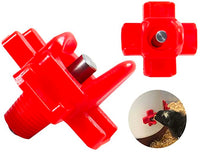 12 Pcs Automatic Side-Mounted Poultry Water Nipples, Horizontal Clean Chicken Waterer Quail Feeder